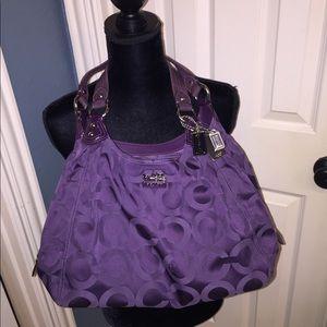 Authentic Deep Purple Coach shoulder bag